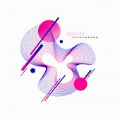 Vector Astract Design. Avant-garde Style Abstract Illustration With Guilloche Waveform Element. poster