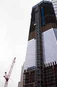 NEW YORK - MAY 2: A new tower known as the Freedom Tower rises above the World Trade Center PATH tra