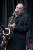 CLARK, NJ - SEPT 18: Saxophone player for Southside Johnny & The Asbury Jukes, Eddie Manion, better