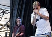 CLARK, NJ - SEPT 18:  Lead singer Southside Johnny of the band Southside Johnny & The Asbury Jukes p