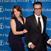 NEW YORK - NOV 10: Tina Fey and Fred Armisen joke at the American Museum of Natural History's  2011