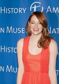 NEW YORK - NOV 10: Actress Emma Stone attends the American Museum of Natural History's  2011 Gala on