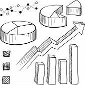 Dibujo de elementos de gráfico y gráfico