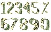 stock photo of one hundred dollar bill  - Numbers and percent from dollars - JPG