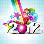 vector funky colorful happy new year vector design