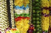 A mixture of fresh flower bouquet used in the Deepavali praying ceremony