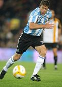 BARCELONA, SPAIN - DEC. 22: Argentinian player Martin Palermo in action during the friendly match be