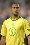 BARCELONA, SPAIN - MAY. 25: Brazilian player Ronaldo before the friendly match between Catalonia vs