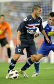 BARCELONA, SPAIN - JULY 31: Guido Marilungo of UC Sampdoria in action during a friendly match agains