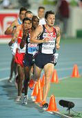 BARCELONA, SPAIN - JULY 27: Chris  Thompson of Great Britain during the Men 10000m final during the