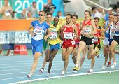 BARCELONA, SPAIN - JULY 28: Competitors of 1500 men event during the 20th European Athletics Champio