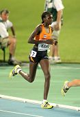 BARCELONA, SPAIN - JULY 28: Hilda Kibet of Netherlands competes on the Women 10000m final during the