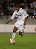 BARCELONA- SEPT 18: Julio Baptista of Real Madrid in action during a match between Espanyol and Real Madrid at the Olympic Stadium on September 18, 2005 in Barcelona, Spain