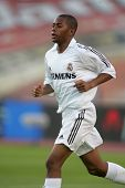 BARCELONA- SEPT 18: Robinho de Souza of Real Madrid in action during  the match between Espanyol and