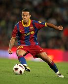 BARCELONA - MAY 15: Thiago Alcantara of Barcelona during the match between FC Barcelona and Deportiv