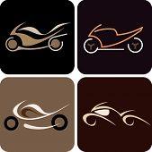 Motorcycle - Vector Illustration