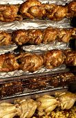 picture of spit-roast  - horizontal picture of a spit roast chicken on the market - JPG