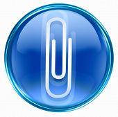 Paper Clip Icon Blue