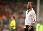 BARCELONA, SPAIN - AUG. 19: Barcelona's coach Josep Guardiola reacts during the match 44th Trophy Jo