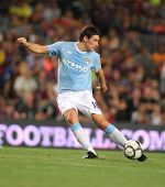 BARCELONA - AUGUST 19: Manchester City midfielder Gareth Barry during the match Trophy Joan Gamper b