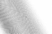 Black And White Contrast Halftone Vector Texture. Digital Pop Art Background. Diagonal Dotwork Gradi poster