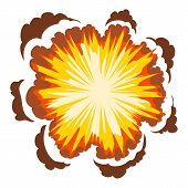 Explosion Icon. Cartoon Illustration Of Explosion Icon For Web poster