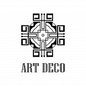 Geometric Ornamental Retro Vintage Deco Art Logo For Design And Decoration. Vintage Retro Ornamental poster