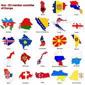 Non - Eu Countries Flag Maps