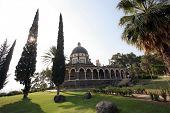 The Church Of The Beatitudes was built on a hill overlooking the Sea of Galilee and is the accepted site where Jesus preached the Sermon on the Mount.
