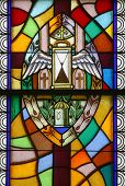 Anointing of the Sick, Seven Sacraments, Stained glass