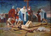 11th Station of the Cross - Crucifixion: Jesus is nailed to the cross