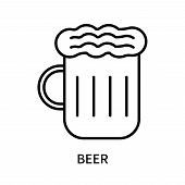 Beer Icon Isolated On White Background. Beer Icon Simple Sign. Beer Icon Trendy And Modern Symbol Fo poster
