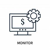 Monitor Icon Isolated On White Background. Monitor Icon Simple Sign. Monitor Icon Trendy And Modern  poster