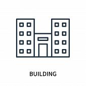 Building Icon Isolated On White Background. Building Icon Simple Sign. Building Icon Trendy And Mode poster