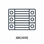 Archive Icon Isolated On White Background. Archive Icon Simple Sign. Archive Icon Trendy And Modern  poster