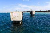 Concrete Pillars at the Dock