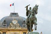 Equestrian Statue Of Marechal Joffre  At The Champ De Mars In Paris, France.