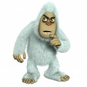 picture of bigfoot  - 3 d cartoon cute white bigfoot toy freak - JPG