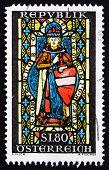 Postage stamp Austria 1967 St. Leopold, Heiligenkreuz Abbey