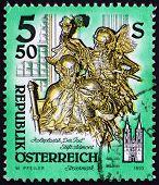 Postage stamp Austria 1993 Death, Wooden Statue