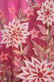 Pink Kebaya With White Flowers