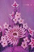 Purple Kebaya With White Flowers