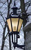 Classic Street Lantern At Winter