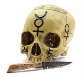 Occult Skull With Dagger
