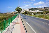 Street Along Costa Del Sol In Spain