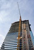 Highrise Building Construction And Crane
