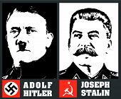 Hitler And Stalin Portraits
