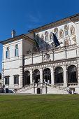 Vista na Galleria Borghese, Villa Borghese de Roma Itália