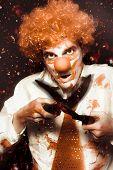 Messy Homicidal Clown In Bloody Horror Massacre