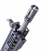 picture of hider  - Device often found on the front end of an assault rifle - JPG